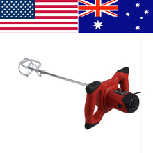 1500W Handheld 6-speed Electric Mixer for Stirring Mortar Paint Cement Grout Red new professional high power electric stirring drill r6219c paint coating cement putty powder mixer 220v 50hz 1800w 180 750r min
