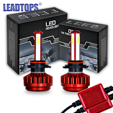 LEADTOPS LED car headlight  H4 H7 9005 9006 HB3 HB4 H8 H9 headlamps waterproof IP68 LED auto fog lamp CH