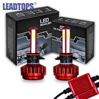 LEADTOPS Mini H4 H7 LED Car Headlight 9005 9006 HB3 HB4 H8 H9 Headlamps Automobile Bulbs