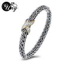 UNY Hot Sale Fashion Brand Hardy jewelry Wire Cross Vintage Bangle Elegant Beautiful Valentine Mothers day Gift Free Shipping