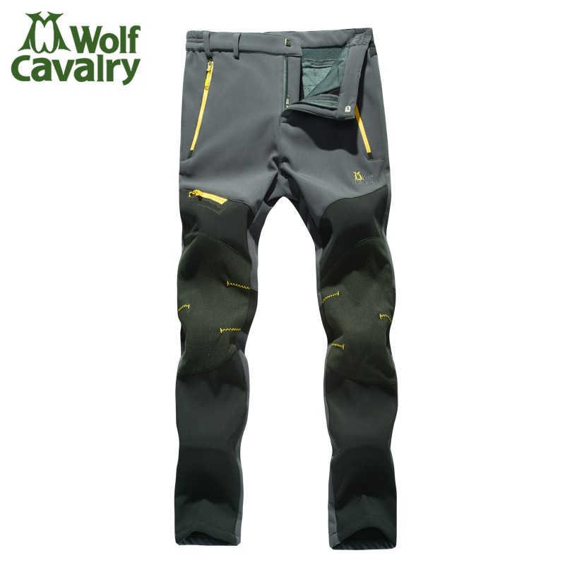 Hot Women Softshell Camping Hiking Pants Climbing Pants Outdoor Pants Trousers With Fleece Keep warm Waterproof Combat Trousers rax 2015 thermal fleece hiking pants for men women winter outdoor sports warm fleece trousers fleece camping pants 54 4f089