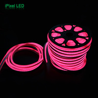 Водонепроницаемый 220 В 15 мм шириной 60 светодиодов/M SMD 5050 RGB LED Neon Flex дюралайта 50 м /roll