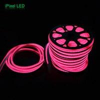 Waterproof 220V 15mm wide 60leds/m SMD 5050 rgb led neon flex rope light 50m/roll