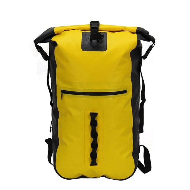 Gzl Pvc Waterproof Travel Bag Backpack 40l Men Women Hasp Water Resistant Dry Large Capacity