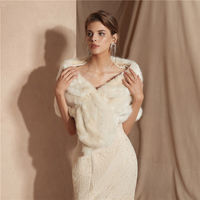 Winter Bruids Bolero Ivory White Cape Faux Fur Wrap Wedding Cape Coat Fake Fox Fur Bridal Shawl Stoles Jacket 13 colors