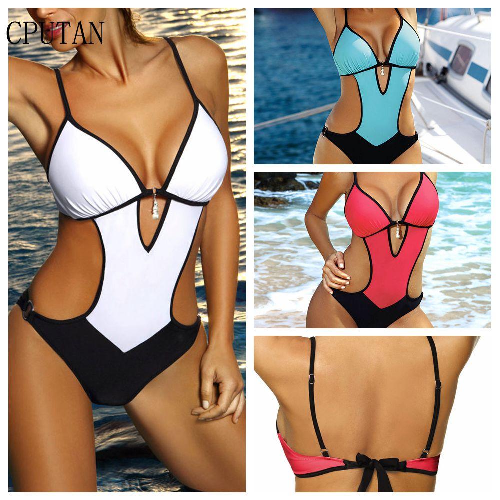 04ffe7ca8259e CPUTAN One Piece Thong Swimwear Women Swim Wear High Cut Swimsuit sexy  monokini push up Bathing Suit Plus Size Swimming Suit XXL - aliexpress.com  - imall. ...