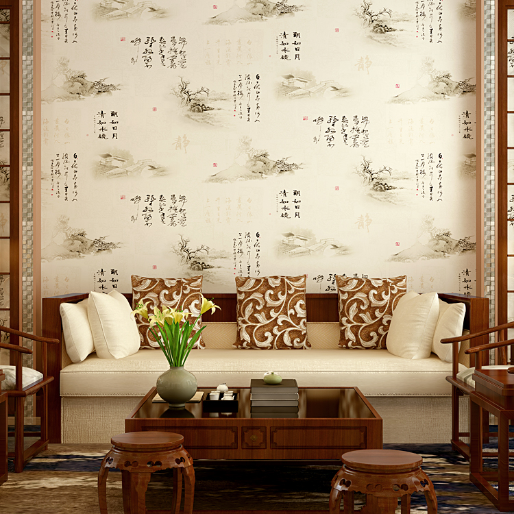 wallpapers classsic Chinese landscape painting wallpaper living room study TV backdrop restaurant entrance customs ink wall roll fashion circle flowers birds large mural wallpaper living room bedroom wallpaper painting tv backdrop 3d wallpapers for wall