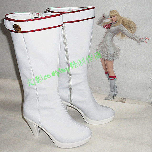 Tekken 6 Lili White Halloween Long Cosplay Shoes Boots H016-in Shoes ...