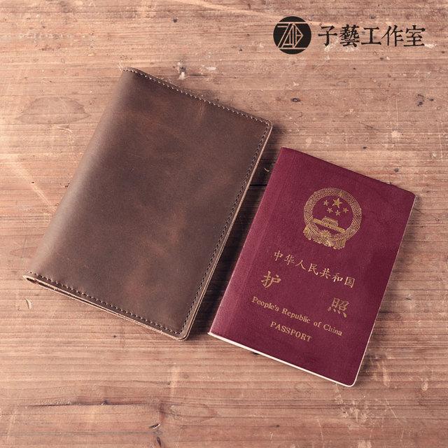 Hecho a mano cartera de cuero breves párrafos hombres y mujeres paquete de la tarjeta vertical de piel de vaca cartera de cuero de la vendimia de la vendimia