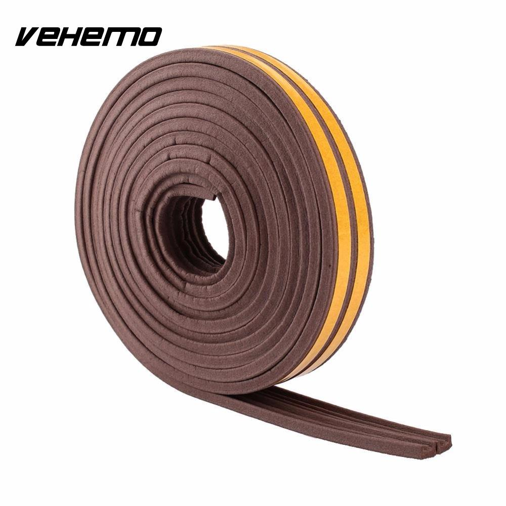 5M E-type Car Window Door Foam Draught Self Adhesive Excluder Rubber Seal Strip