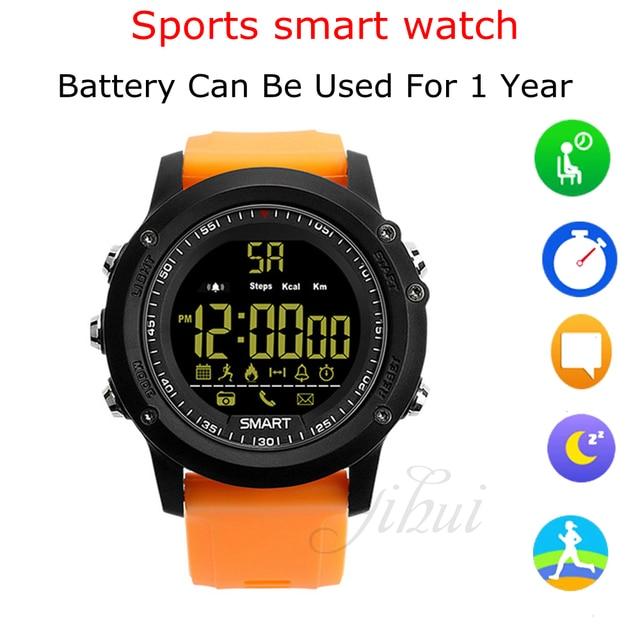 1885132f32a2 Color Negro reloj inteligente EX17 Smartwatch IP67 impermeable podómetro  cronómetro rastreador de Fitness reloj deportivo con