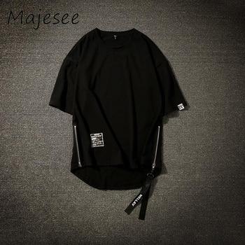 Camiseta Hombre Verano Bf Transpirable Suelta Chic Tops Para Estilo Cuarto Camisetas Coreano Cremallera Harajuku Hombres Del Hip 5 Masculina Hop OmNnwy8v0P