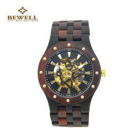 Hot Sale Men S Watches BEWELL Luxury Wooden Mechanical Watch Classy Analog Sandalwood Watches Men Mechanical