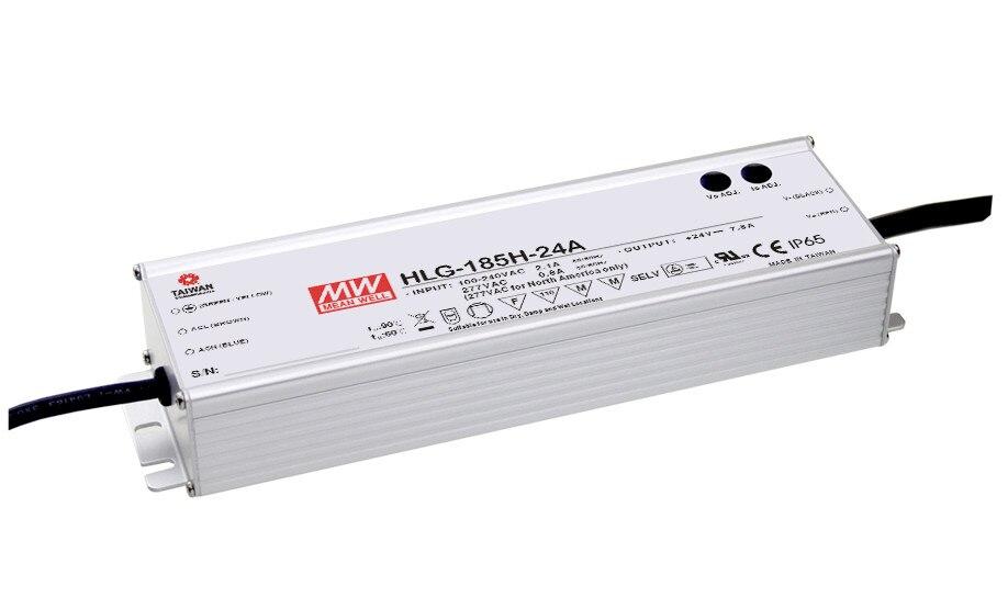 1MEAN WELL original HLG-185H-15 15V 11.5A meanwell HLG-185H 15V 172.5W Single Output LED Driver Power Supply
