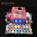 NEW 2016 professional gel polish 36 Colors UV Gel nail tools set nail kit manicure set 008# pink lamp