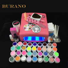 NEW 2016 professional gel polish 36 Colors UV Gel nail tools set nail kit manicure set 008# pink lamp