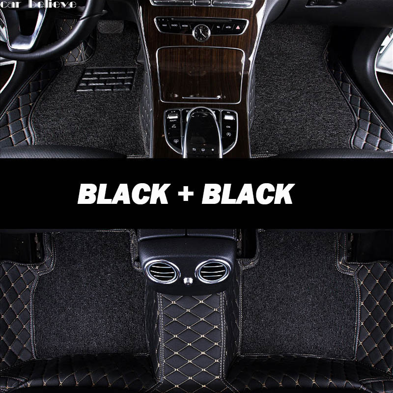 Car Believe Auto car floor Foot mat For pajero sport 4 grandis lancer outlander xl 2017 2013 car accessories waterproof carpet car believe auto car foot floor mat for porsche cayenne 958 2017 2010 panamera cayman 955 957 958 waterproof car accessories