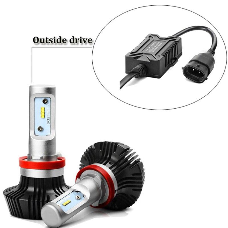 H4 Led lampen 50 Watt Auto LED Scheinwerferlampe mit ZES chip DC ...
