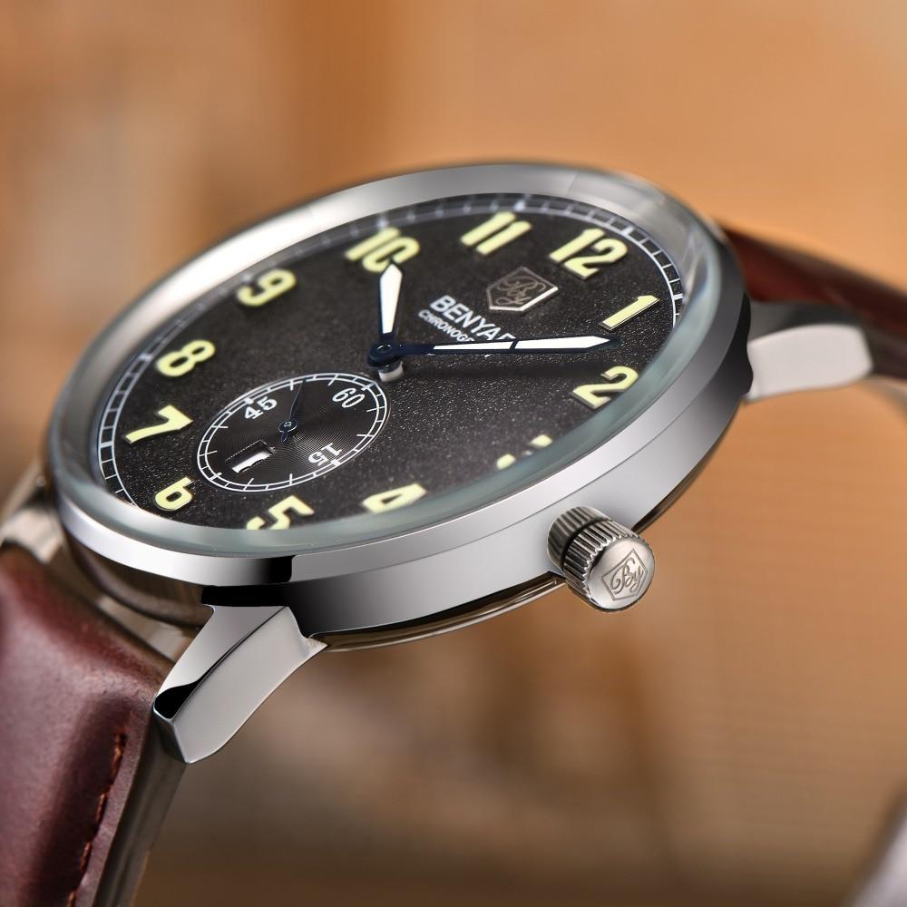 купить BENYAR Fashion Calendar Chronograph Mens Watches Top Brand Luxury quartz-watch Reloj Hombre 2016 Clock Men Relogio Masculino недорого