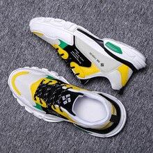 2019 nowa modna siatka mężczyźni wygodne obuwie codzienne męskie lekkie płaskie buty sportowe lac up mężczyźni buty oddychające sneakersy