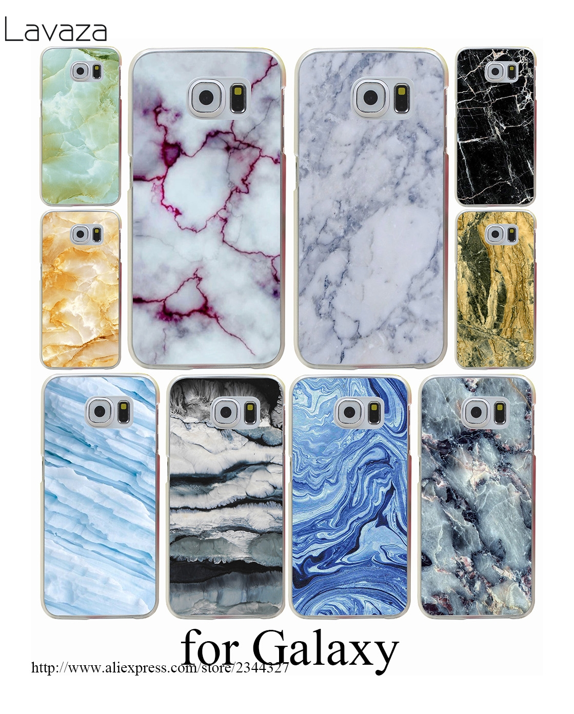 Newest Fashion Marble Hard Transparent Case Cover for Galaxy S3 S4 S5 & Mini S6 S7 Edge Plus Case Cover