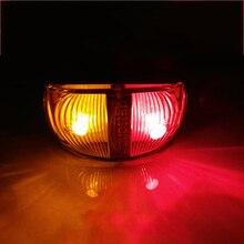 цена на 1 Piece LED Truck Side Marker Light for 24V Truck Trailer RV Caravan Red Yellow