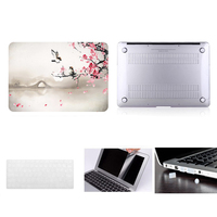 Laptop Case Notebook Tablet Shell Keyboard Skin Cover Bag Screen Film Dust Plugs For 11 12 13 15Macbook Pro Air Touch Bar A1706
