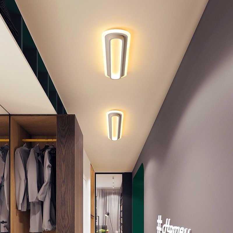 Luminária led moderna de teto para sala de estar, para quarto, sala de estudo, corredor, branco, preto, superfície, suporte para teto, AC85-265V