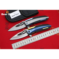 BEAR CLAW BC999 NEW Folding Knife Ball Bearing D2 Blade Steel Handle Camping Hunting Outdoor Pocket