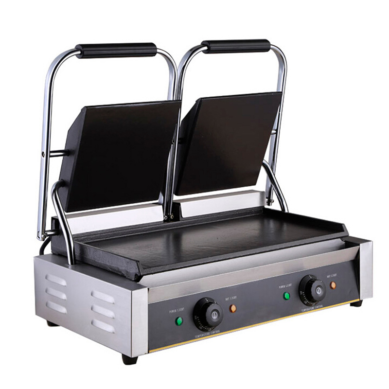 VOSOCO Electric Grill Griddle Sandwich Grill Teppanyaki Barbecue Griddler commercial electric contact double side heating Grill