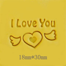 30*18mm I LOVE YOU Handmade Resin Soap Stamp Homemade Tools DIY Sugarcarft Candy Candle Making Kits