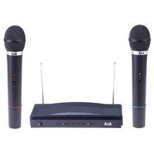 Dual Wireless Cordless Dual Channel Microphone & Wireless UT4 Type Mic For KTV DJ Karaoke Meeting Dancing/Hosting/Church