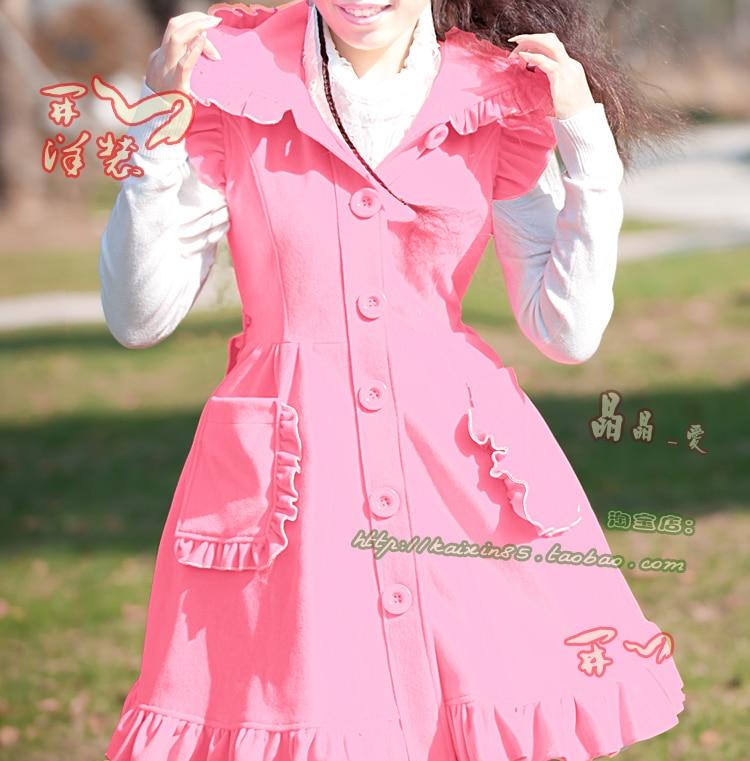 Costumes de robe Lolita en deux pièces en coton violet