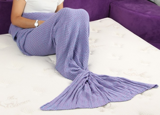 Aliexpress Buy Mermaid Blanket Pattern Crochet Mermaid Tail