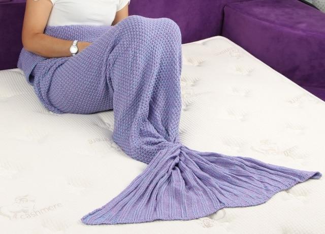 Mermaid Blanket Pattern Crochet Mermaid Tailknitted Mermaid Tail