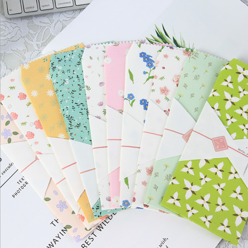 5pcs/lot Hello Plants Envelope Writing Paper Stationery Birthday Christmas Card Envelopes Gift Office Stationery Supplies