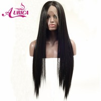 Aurica Straight Natural Black Heat Safe Synthetic Hair Lace Front Wig
