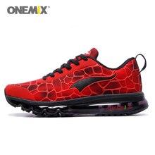 Onemix/спортивная обувь, мужская беговая Обувь, эластичные красные, черные кроссовки с воздушной подушкой, спортивные кроссовки, мужские тренировочные размеры EU 39-47 US 12 13