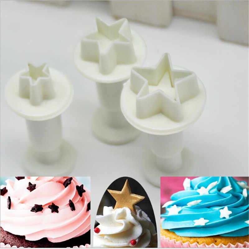 Christmas Cake Print Push Cutter Fondant Cookie Tools DIY Cake Mold