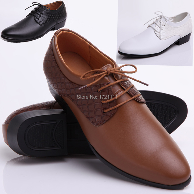 2015 New Arrival groom shoes yellow Men s dress shoes new wedding shoes  leather shoes men s flats 40-44 236dbc304c3a