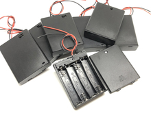 400pcs/lot MasterFire 2-Wire Cable Connector 4 x 1.5V AAA Black Plastic Battery Case Cover Holder Storage Box