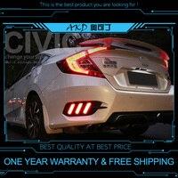 AKD tuning cars DRL For Honda CIVIC G10 2016 Mustang Rear Bumper light Daytime Running lights LED Fog Light Stripe