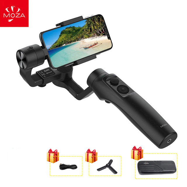 MOZA MINI MI 3-Axis Handheld Stabilizer Gimbal for Smart phone iPhone X 8 Plus 8 7 Samsung S9 S8 S7 with Maximum Payload 300g