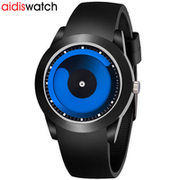 Mens Watches Top Brand Luxury Silicone Strap Quartz Sport Watches For Men Fashion Cool Blue Ocean