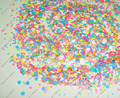 30gram/lot xMatte NEON Mixed Colors(Hexagon+Heart)Shapes Solvent Resistant Glitter for Gel Nail Art and Nail Polish