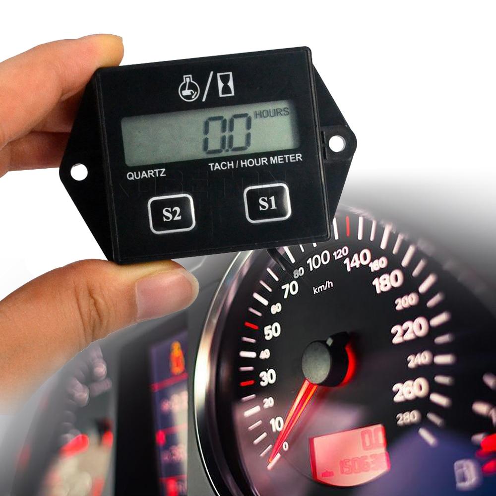 Digital Hour Meter Tachometer For Outboard Motor Motorcycle Chainsaw Waterproof