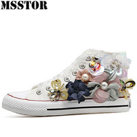 MSSTOR White Skate Canvas Shoes Woman Brand Men Skateboarding Shoes Walking Womens Sneakers Outdoor Athletic Sport