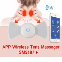 SUNMAS SM9187 Iphone Mobile APP Bluetooth Wireless Control Muscle Train Fitness Handheld Back Massagers