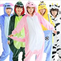 Onesies Animal Adult Tiger Giraffe Blue Stitch Kitty Cat Totoro Pink Pig Unicorn Pikachu Panda