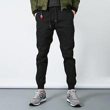 Новая мода Тощий Летние Мужские Брюки Хип-Хоп Гарем Бегунов брюки 2017 Мужские Брюки Мужские Бегунов Черный Хлопок Штаны 4XL 5XL